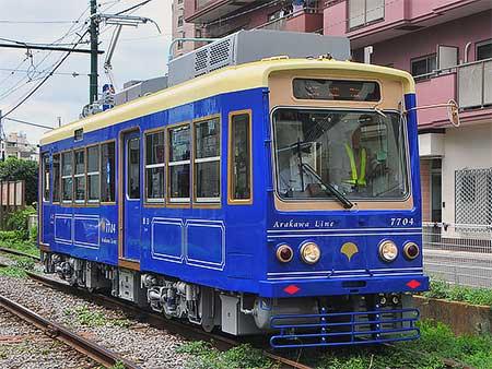 都電7704号車が試運転