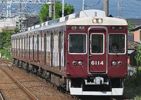 阪急6000系6014編成が箕面線で運用される
