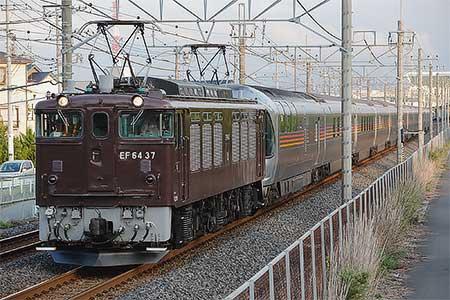 EF64 37けん引「信州カシオペアクルーズ」運転