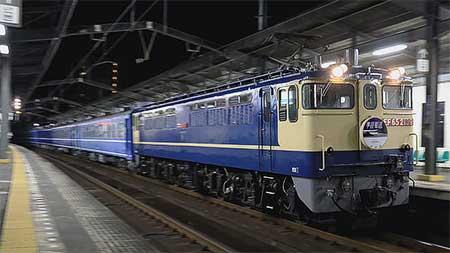 12系・14系客車の甲種輸送が行なわれる