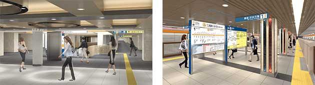 東京メトロ,三越前駅・日本橋駅・京橋駅のデザインを発表