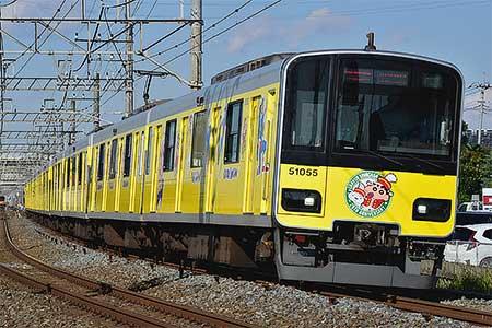 東武鉄道で「クレヨンしんちゃんラッピングトレイン」の営業運転開始