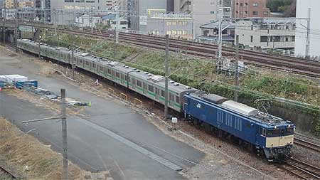 205系ハエ28編成の中間車6両が長野総合車両センターへ