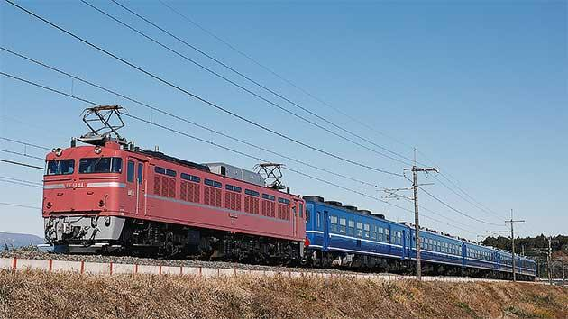 EF81 81+12系客車の団臨運転