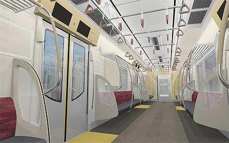 東京都交通局5500形の内装イメージ