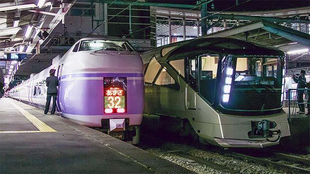 E001形「TRAIN SUITE 四季島」の試運転が行なわれる