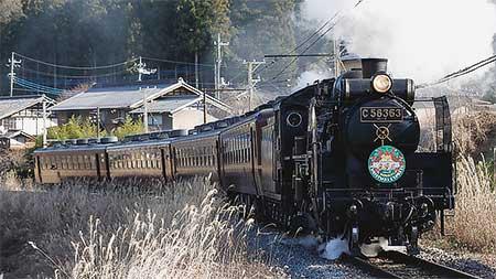 秩父鉄道で「SL森永クリスマスエクスプレス」運転