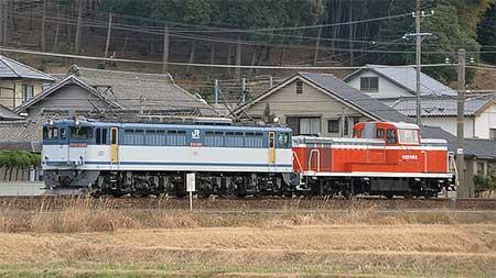 衣浦臨海鉄道KE65形が甲種輸送される