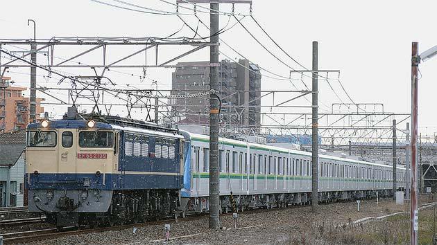 東京メトロ16000系甲種輸送をEF65 2139がけん引