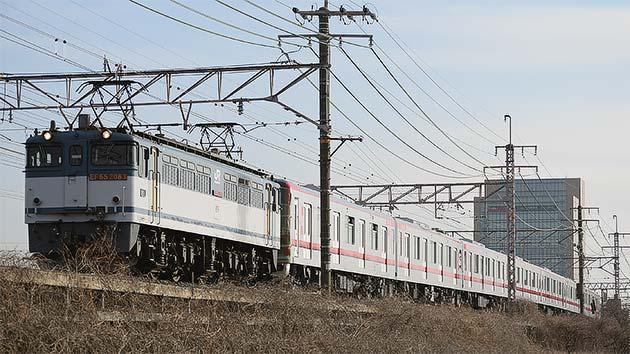 東武鉄道70000系第2編成が甲種輸送される
