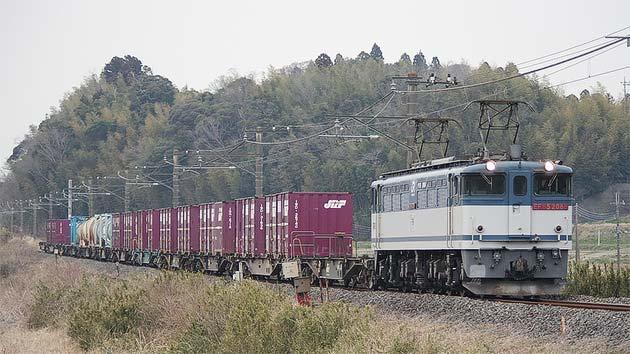 「鹿島貨物」1093・1092列車がEF65けん引に?