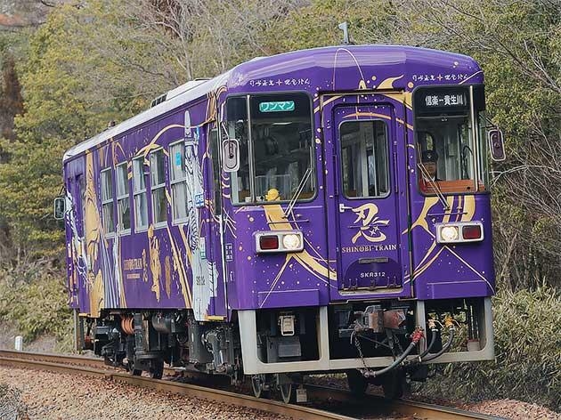信楽高原鐵道で「SHINOBI-TRAIN」運転中