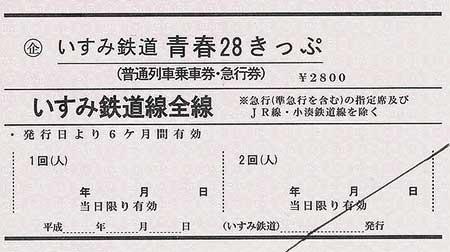 「いすみ鉄道 青春28きっぷ」発売