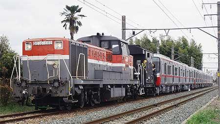 名鉄3150系が甲種輸送される