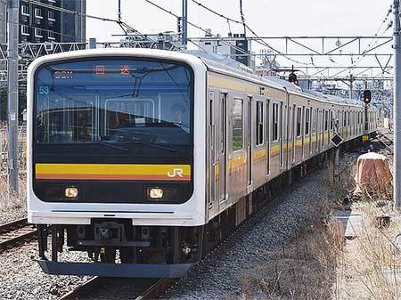 209系2200番台ナハ53編成が幕張車両センターへ|鉄道ニュース|2017年4 ...