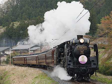 """秩父鉄道で""""SL芝桜号""""運転"""