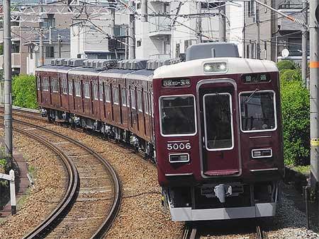 阪急5000系5006編成が6連化され,今津線へ