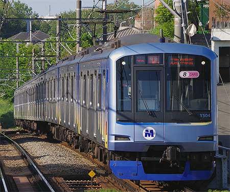横浜高速鉄道Y500系が10両編成の運用を代走