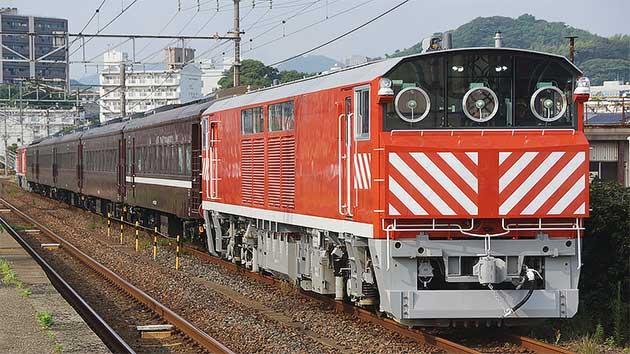 35系客車の回送にキヤ143形が使用される