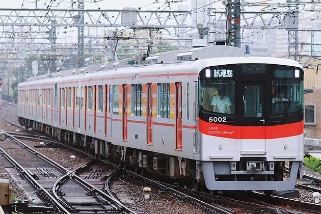 山陽6000系が6両編成で阪神梅田へ
