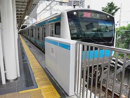 さいたま新都心駅でホームドア設置がすすむ