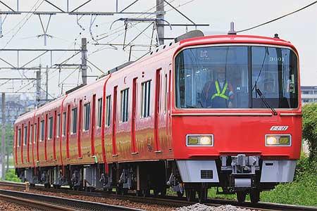 名鉄3500系が更新工事を終えて出場試運転を実施