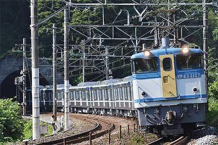 東京メトロ13000系第11編成が甲種輸送される