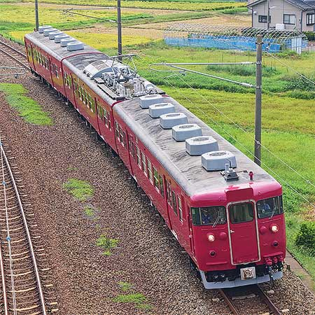413系B09編成が金沢—大聖寺間で試運転