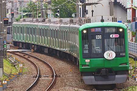 東急5000系「青ガエルラッピング電車」の運転開始