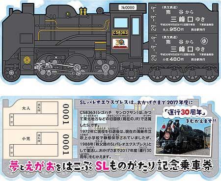 SL型乗車券イメージ