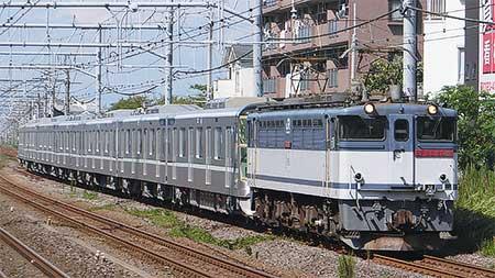 東京メトロ13000系第13編成が甲種輸送される