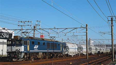 5580〜5767列車をEF64 1046が代走けん引