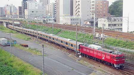 武蔵野線色となったE231系が京葉車両センターへ