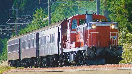 『津軽線・旧型客車列車の旅』の試運転が行なわれる