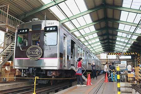 福島交通飯坂線で『桜水車両基地一般公開イベント』開催