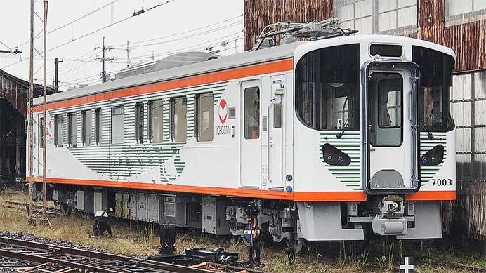 一畑電車,7003号車が10月14日から営業運転を開始