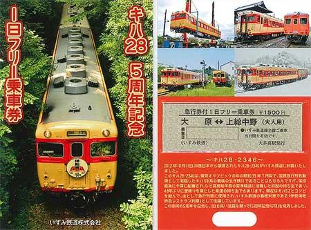 キハ28導入5周年記念一日フリー乗車券