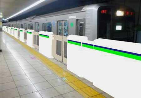 都営新宿線にホームドアの設置を開始