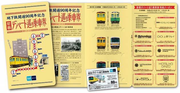 東京メトロ,復刻版「新春デパート巡り乗車券」発売