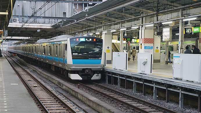 上野駅の京浜東北線ホームに可動式ホーム柵が設置される