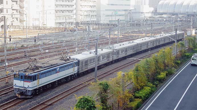 福島交通1000系5両が甲種輸送される