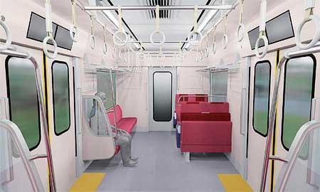 京急 新1000形17次車の車内イメージ