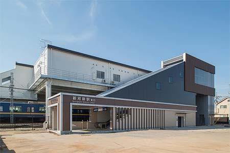 新河岸駅東口 新駅舎(外観)