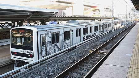 両国駅で209系2200番台「B.B.BASE」車両展示会