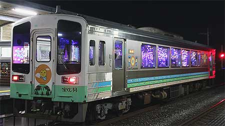 土佐くろしお鉄道ごめん・なはり線で『イルミネーション列車』運転