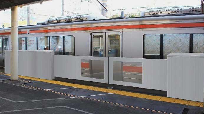 JR東海,金山駅でホーム可動柵の実証実験を開始