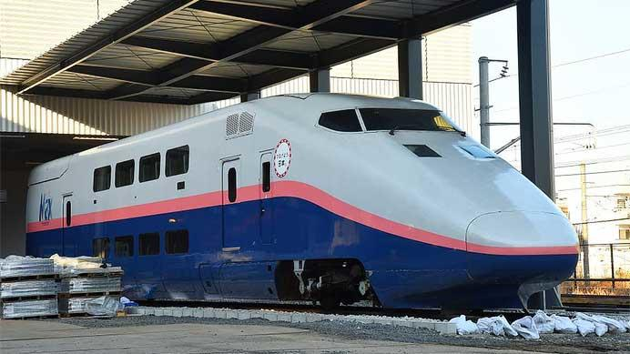 鉄道博物館にE1系が搬入される