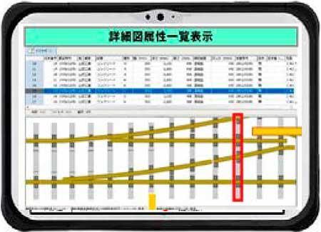 調査用フォーマットに調査結果を直接入力すると図面が自動的に作成される