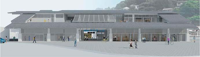 JR西日本,尾道駅新駅舎の商業施設・観光対応施設の概要を発表