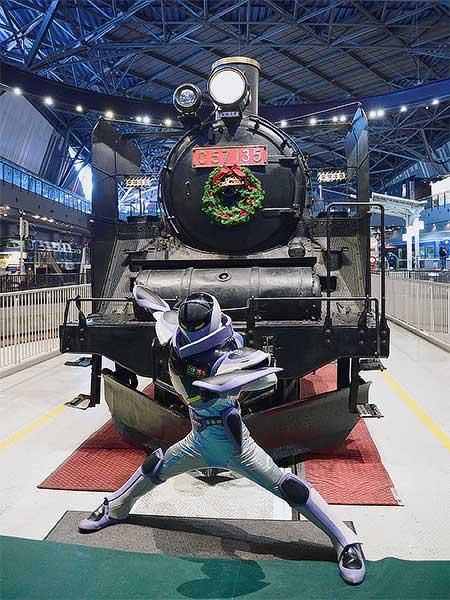鉄道博物館に「カンセンジャー」が登場